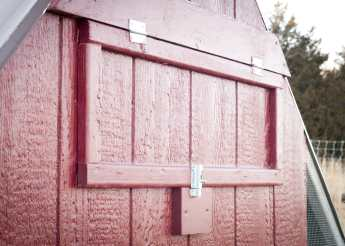 Nest box access door.