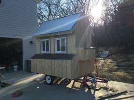 Coop with siding - ready for paint.