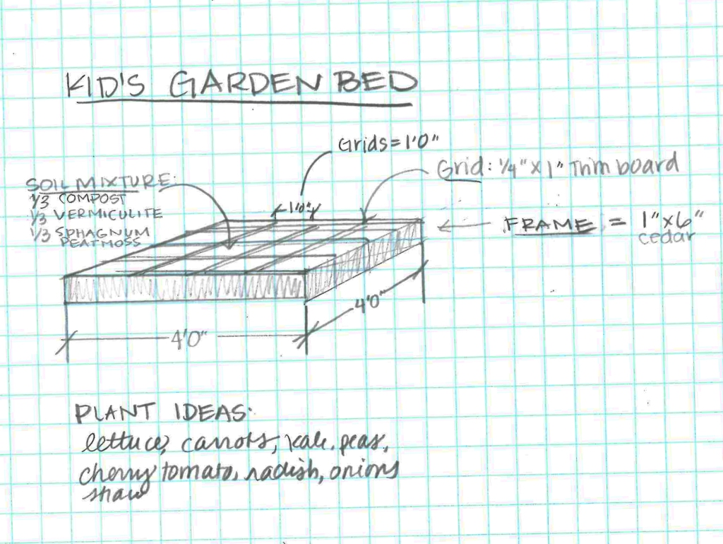 Kid's Raised Garden sketch